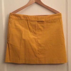 Gold corduroy mini skirt
